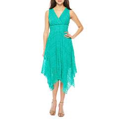 Rabbit Rabbit Rabbit Design Sleeveless Alternative Hem Maxi Dress