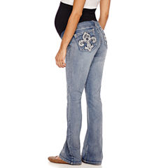 Love Indigo Classic Fit Bootcut Jeans-Plus Maternity