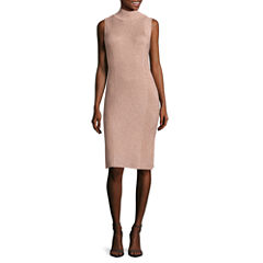 Worthington Sleeveless Sweater Dress-Talls