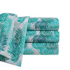 By The Seashore Microfiber Blue Tropics Sheet Set