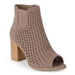 Journee Collection Emm Peep Toe Ankle Booties