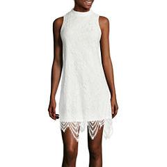 Fire Sleeveless Lace A-Line Dress- Juniors