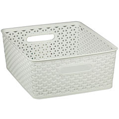 Home Basics Small Plastic Storage Basket