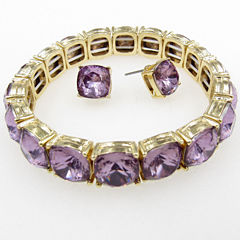 Vieste Rosa Womens 2-pc. Purple Brass Jewelry Set