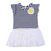 Marmellata Short Sleeve Tutu Dress - Baby Girls