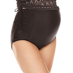 a.n.a Solid High Waist Swimsuit Bottom-Maternity