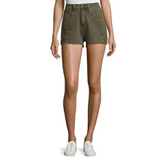 Union Bay Destructed Denim Shorts-Juniors