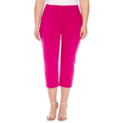 Worthington® Pull On Slim Crops - Plus