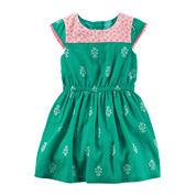 Carter's® Cap-Sleeve Geo-Print Dress - Toddler Girls 2t-5t