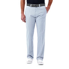 Haggar® Straight-Fit Stretch Belted Pants