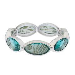 Gloria Vanderbilt Womens Blue Stretch Bracelet