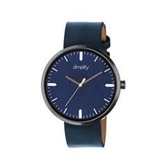 Simplify The 4500 Unisex Blue Strap Watch-Sim4505
