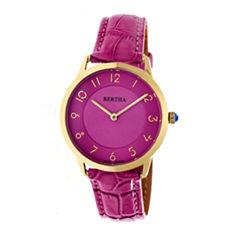 Bertha Abby Womens Silver Tone Bracelet Watch-Bthbr6806