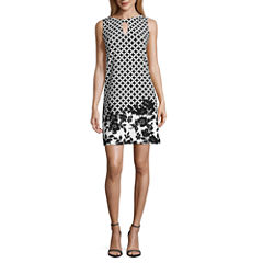 Danny & Nicole Sleeveless Shift Dress-Petites