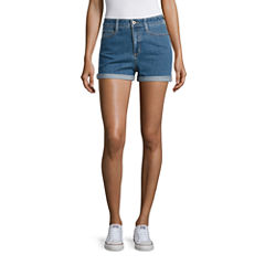 Arizona Denim Mom Shorts-Juniors