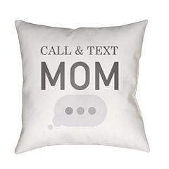 Decor 140 Text Me Back Square Throw Pillow