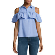 a.n.a Cold Shoulder Ruffle Blouse