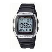 Casio® Mens Square Black Resin Strap Digital Sport Watch W96H-1AVOS
