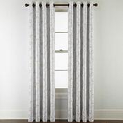 Royal Velvet® Plaza Embroidery Blackout Grommet-Top Curtain Panel
