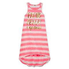 Girls Stripe Dress-Big Kid