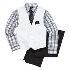 Steve Harvey Boys Woven Pant Suit-Big Kid