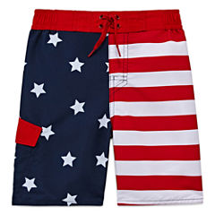 Arizona Boys American Flag Swim Trunks-Preschool
