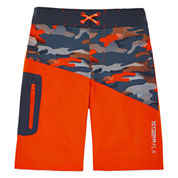 Free Country Boys Camo Swim Trunks-Big Kid