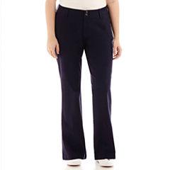 Arizona Schoolgirl Bootcut Pants - Juniors Plus