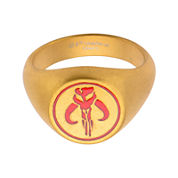 Star Wars® Gold-Tone Stainless Steel Mandalorian Symbol Ring