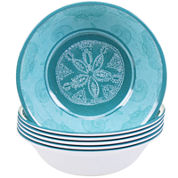 Certified International Aqua Treasures Set of 6 Melamine All-Purpose Bowls