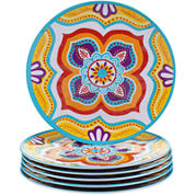 Certified International Akela Set of 6 Melamine Salad Plates