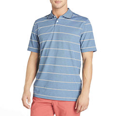 Arrow® Short-Sleeve Striped Oxford Piqué Polo