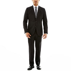 Stafford® Travel Charcoal Gabardine Suit Separates–Classic Fit
