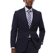 Stafford® Navy Cotton Suit Jacket - Classic Fit