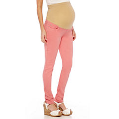 Maternity Overbelly Colored Skinny Pants - Plus