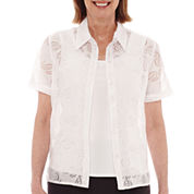 Alfred Dunner® Acapulco Short-Sleeve Layered Top - Petite