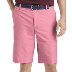 IZOD Oxford Flat-Front Cotton Shorts