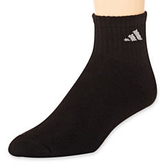 adidas® Men's 6-pk. Athletic Cushioned Quarter Socks - Big & Tall