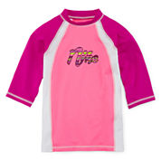 Nike® Colorblock Fitted Rash Guard - Girls 7-16