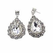 Vieste Rosa White Brass Drop Earrings