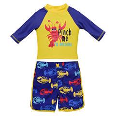 Candlesticks Lobster Rash Guard Set - Baby