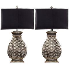 Safavieh Malaga Silver Table Lamp