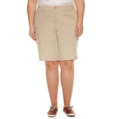 Liz Claiborne Woven Bermuda Shorts-Plus (11