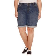 Liz Claiborne Woven Bermuda Shorts-Plus (12.5