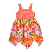 Youngland® Grapefruit Print Dress - Toddler Girls 2t-4t