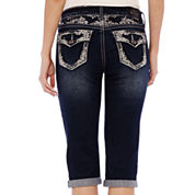 ZCO Bling Flap Pocket with Yoke Detail Cropped Jeans - Petite