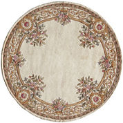 Momeni® Open Field Hand-Carved Wool Round Rug