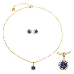 Monet Jewelry Womens 2-pc. Purple Jewelry Set