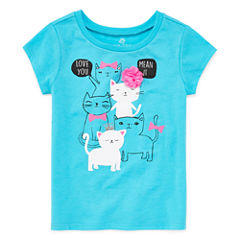Okie Dokie Short Sleeve T-Shirt-Toddler Girls