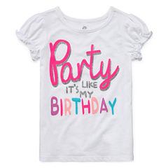 Okie Dokie Girls Birthday T-Shirt-Toddler Girls